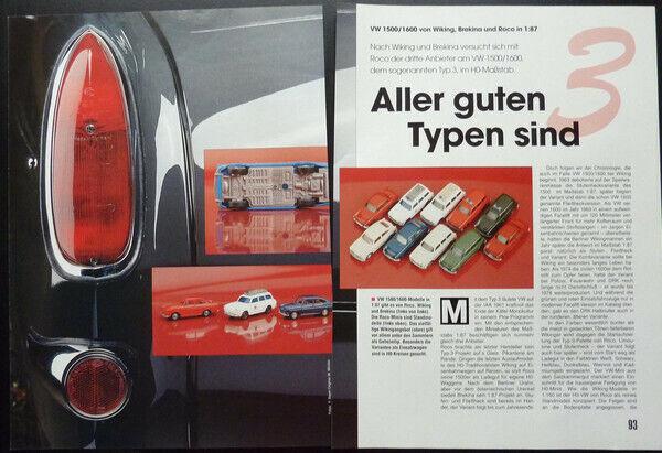 Inteligente Volkswagen Vw 1500 -1600 Tipo 3 In 1-87... Un Modello Relazione #1995