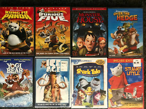 FAMILY 8 DVD Lot: Kung Fu Panda, ICE AGE, Monster House + MORE ✰SHIPS FREE/US