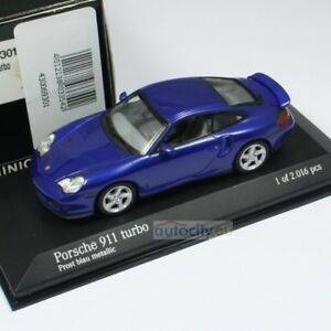 Minichamps Porsche 911 Turbo Prost Blue Metallic 430069301