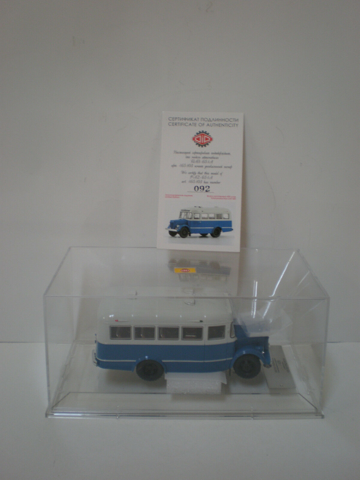 1/43 165103 DIP MODELS PAZ-651/  1950-1960  blu/bianca and bianca stripe Limited
