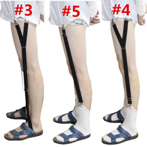 Elastic Shirt Garter Non-Slip Mens Stays Holders 2pcs Locking Clamps Uniform C