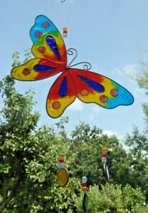 MULTI-COLOUR-BUTTERFLY-SUN-CATCHER-18-cm-wide-STAINED-GLASS-EFFECT