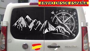 Rosa-De-Vientos-Montanas-Vinilo-Pegatina-Decal-Coche-Furgo-Camper-138x74cm