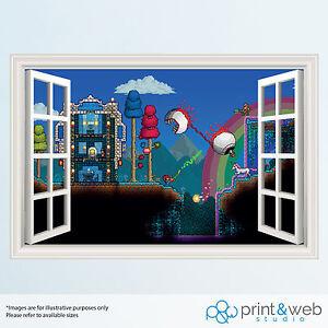 Adventure Time 3D Window View Decal Wall Sticker Home Decor Art Mural Kids