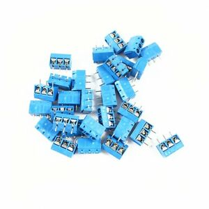 50pcs-KF-301-3P-5-08mm-pitch-3-Pin-Screw-Terminal-Connector-KF301-Blue