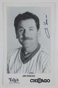 Jim Essian Chicago Cubs SIGNED Autographed 3x5 B&W Team Issued Photo Card