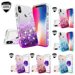 For iPhone XS MAX XR 8 7 Plus Liquid Glitter Quicksand Shockproof ... 51ec0c6eb3d9