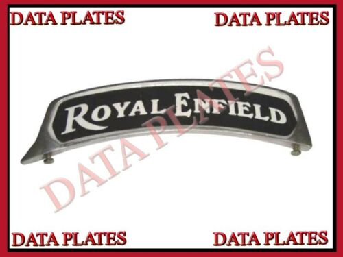 Details about  /2X Royal Enfield Bike Customized Front Mudguard Alloy Number Plate