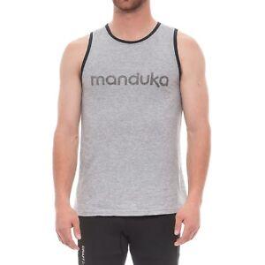 MANDUKA Men's Tee Thunder L Large Gray Yoga Organic NEW T-shirt