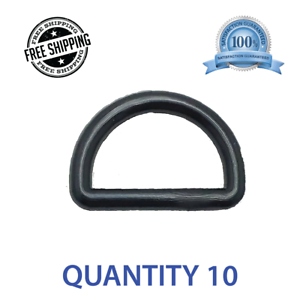 """Black Plastic 10pcs 1/"""" Centering DEE D Ring DRing Shipped from USA"""