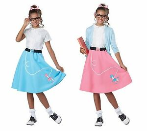Child 50s Poodle Skirt Grease Costume Ebay