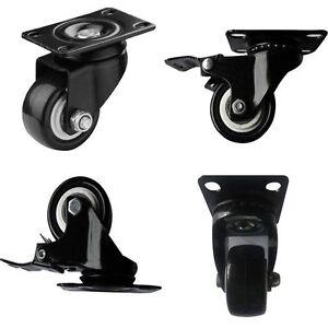 4 x 50 mm schwerlastrollen transportrollen lenkrollen bockrollen bremse lenk es ebay. Black Bedroom Furniture Sets. Home Design Ideas