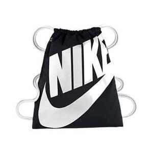 Details zu Nike Kinder Sportbeutel Gymbag NIKE HERITAGE GYMSACK schwarz /  weiß