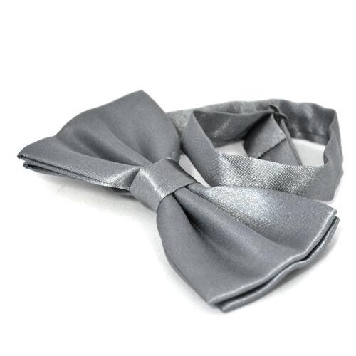 Silver PreTied Mens Bow Tie BowTie Pre Tied Adjustable Dickie Wedding Prom