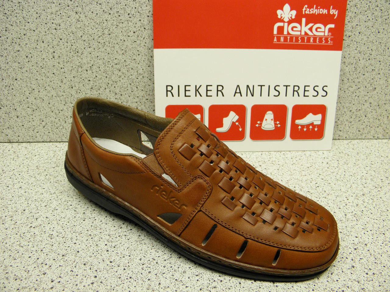 rieker ® Reduziert   Flecht Top Preis + gratis Premium - Socken (R65)
