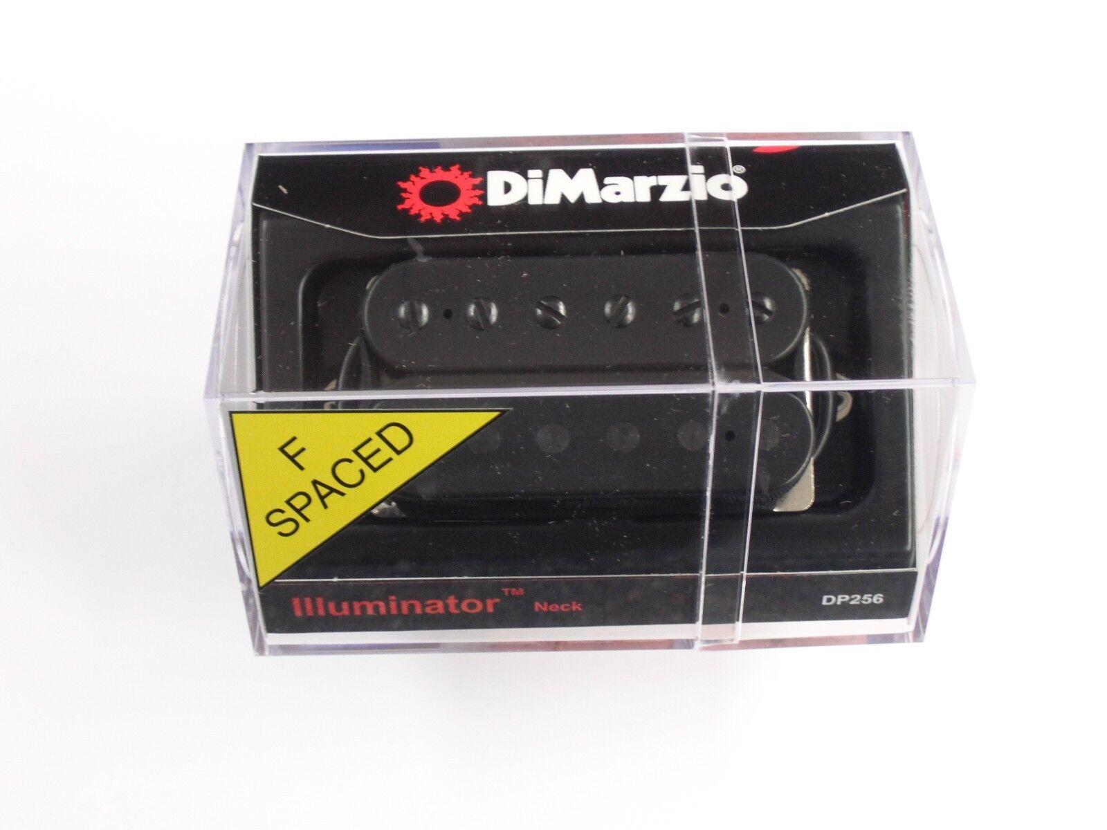 Dimarzio F-espaciados Iluminador Humbucker cuello negra con postes de Negro Negro Negro DP 256  buen precio