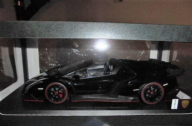 Kyosho 1 18 Lamborghini Veneno Roadster Black Ksc09502bkr Let