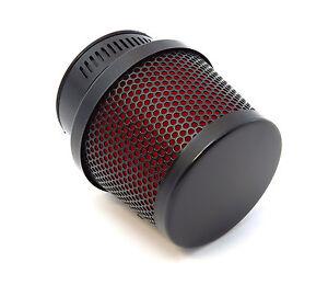 Black & Red Foam Air Filter Pod - 39mm - Honda CB500 CB550 CB750 Kawasaki Suzuki