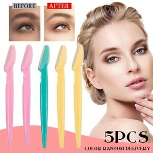 5x Women Eyebrow Razor Trimmer Face Hair Removal Safety Shaper Shaver Tool Ebay