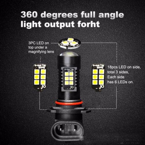 2x Canbus H11 3030 21SMD LED DRL Daytime Running Fog Light Bulbs For Honda Civic