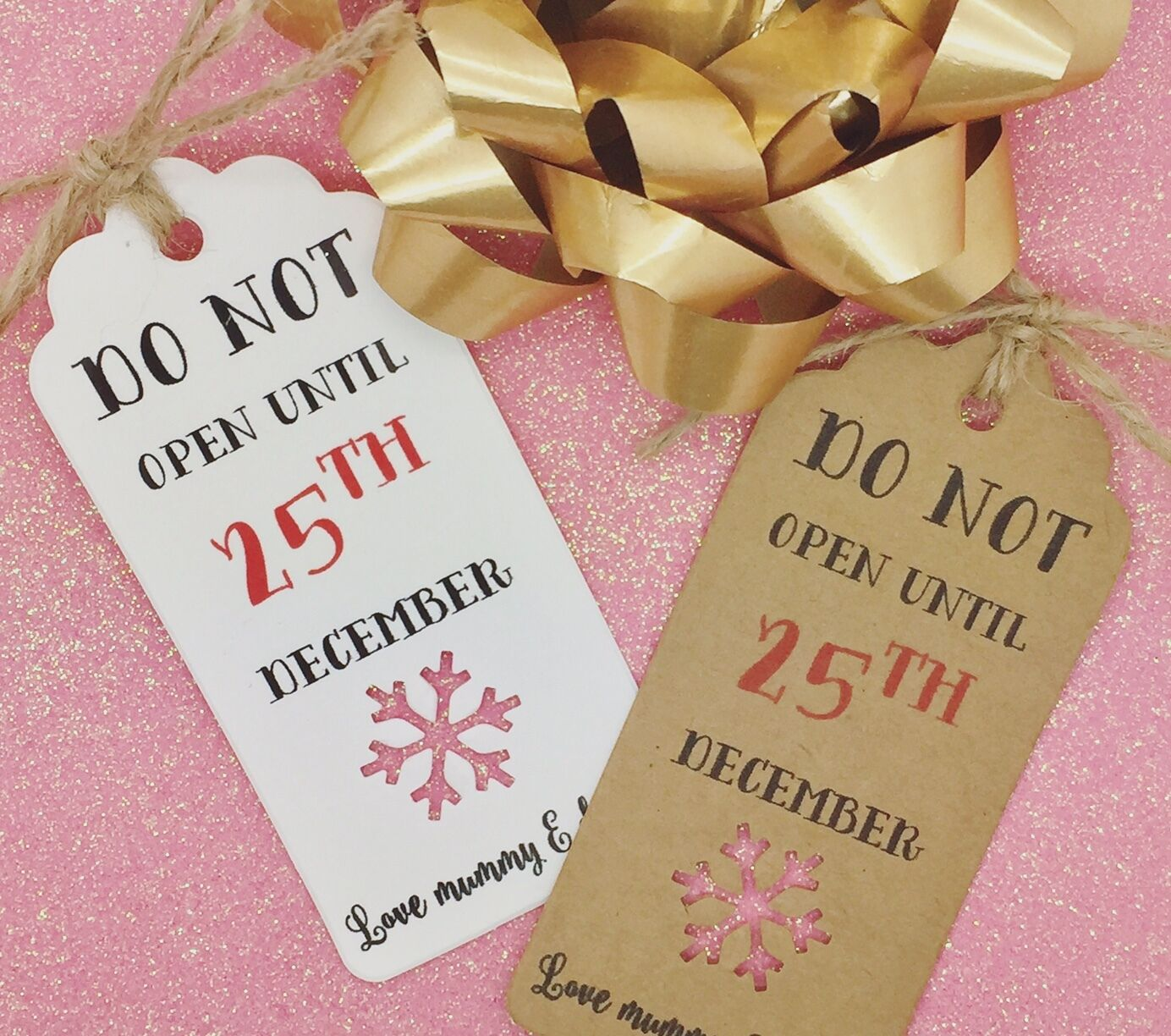 Personalised Christmas Gift Tags - Do Not Open Till 25th December