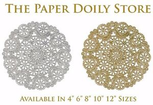 """SILVER FOIL Paper Doilies4/"""" 6/"""" 8/"""" 10/"""" 12/""""Silver Charger Placemat FREE SHIP"""