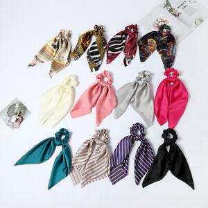 Women-Hair-Band-Bow-Ribbon-Hair-Rope-Ring-Ties-Elastic-Scrunchie-Ponytail-Holder