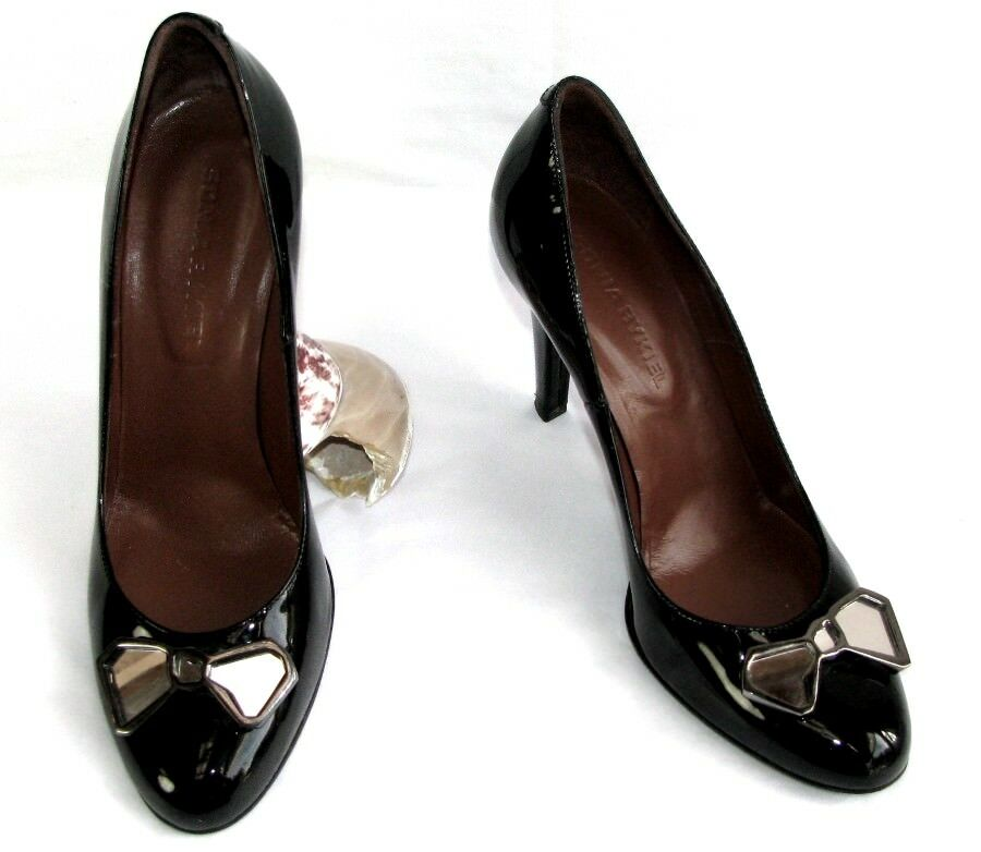 Sonia rykiel pumps wedges 9 cm all patent leather black 37 excellent condition