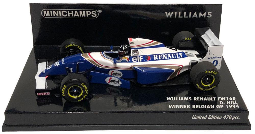 Minichamps Williams FW16B Winner Belgian GP 1994 - Damon Hill 1 43 Scale