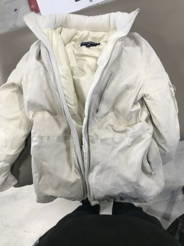 Vintage Polo Ralph Lauren Leather Jacket White Med