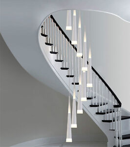 Image Is Loading Modern Led Spiral Ceiling Light Chandelier Stairway Led