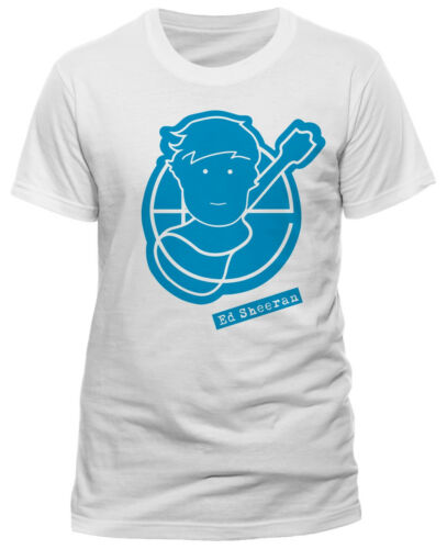 T-Shirt White NEW /& OFFICIAL! Ed Sheeran /'Pictogram/'