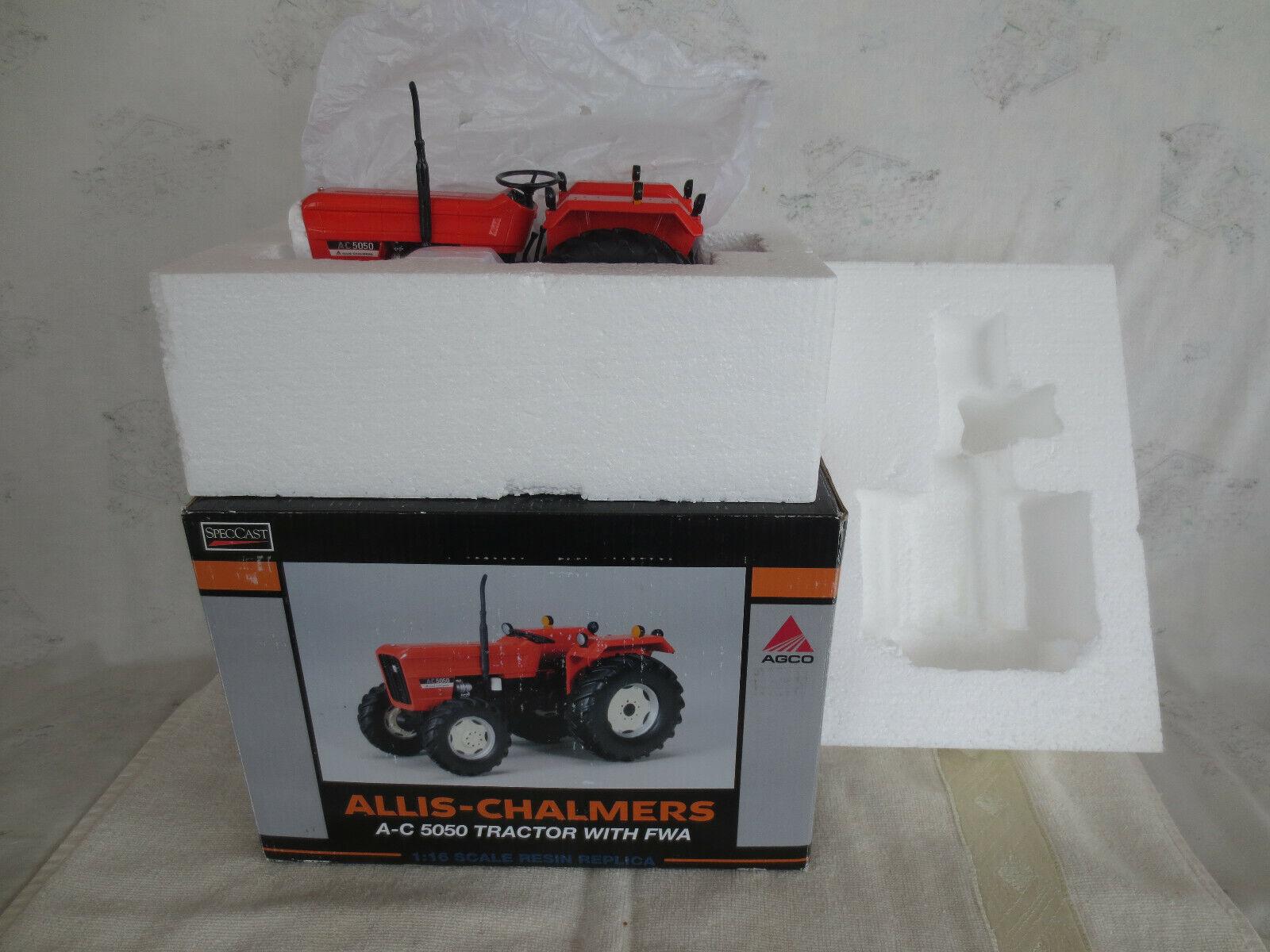 SPECCAST 1 16 ALLIS CHALMERS 5050 FWA FARM TOY TRACTOR TRACTOR TRACTOR orange SPECTACULAR RARE   7a3906