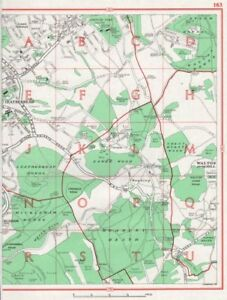 Frank Leatherhead.lower Ashtead Headley Mickleham Langley Vale.pre-m25.surrey 1964 Map Pure Whiteness Maps, Atlases & Globes