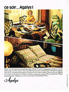 Collectibles Publicité Advertising 1968 Linge De Maison Draps Agalys L