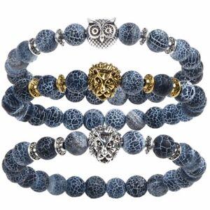 Image Is Loading Tiger Eye Lion Head Bracelet Buddha Beads Bracelets