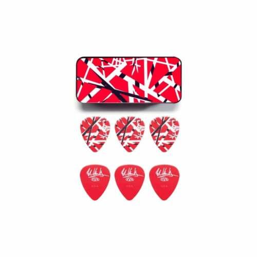 Jim Dunlop EVH Graphic Series Red Frankenstein Pick Tin Pack of 6 Plectrums