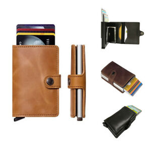 Genuine leather business credit card holder money wallet clip cash image is loading genuine leather business credit card holder money wallet reheart Choice Image