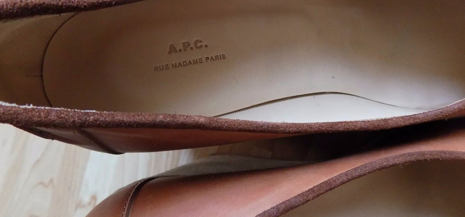 A.P.C. Rue Madame Paris heels/wedge Leder Größe 7 Braun Leder heels/wedge 0dcfe2