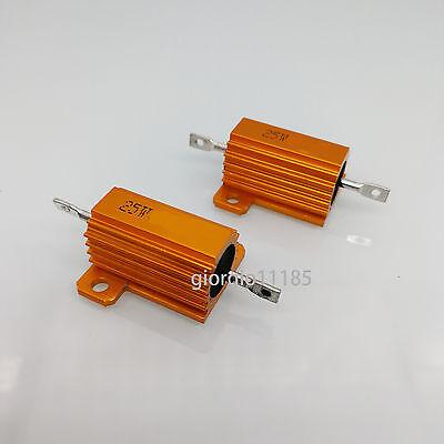 US Stock 2pc 390ohm 390R 25W Watt Aluminum Housed Metal Case Wirewound Resistors