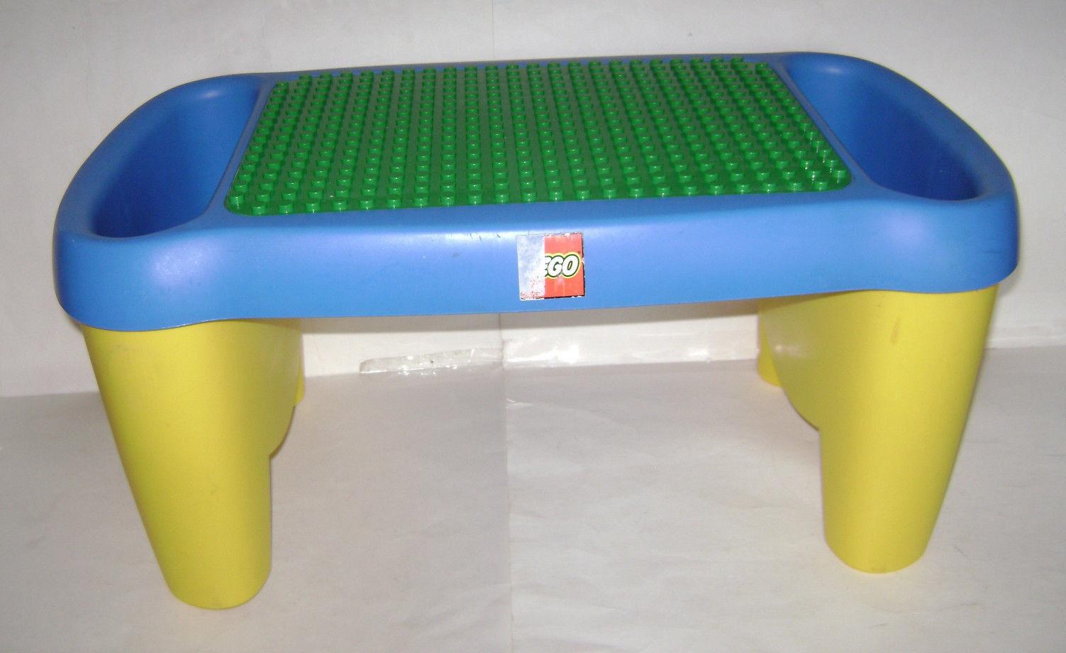 LEGO DUPLO Lap table Building Top avec rangeHommest  et bacs VERT PLAQUE très rare  vous rendre satisfait