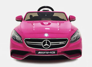 Captivating Kidu0027s 12v Electric Power Wheels Mercedes Benz S63 Pink Radio U0026 Mp3 RC Ride  On Car