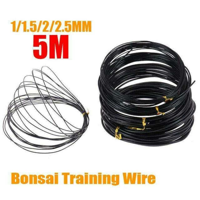 Bonsai Wires Anodized Aluminum Bonsai Training Wire Total 16 5 Feet Black For Sale Online Ebay