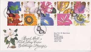 Gb royal mail fdc 1997 greetings flowers stamp set bureau pmk ebay image is loading gb royal mail fdc 1997 greetings flowers stamp m4hsunfo