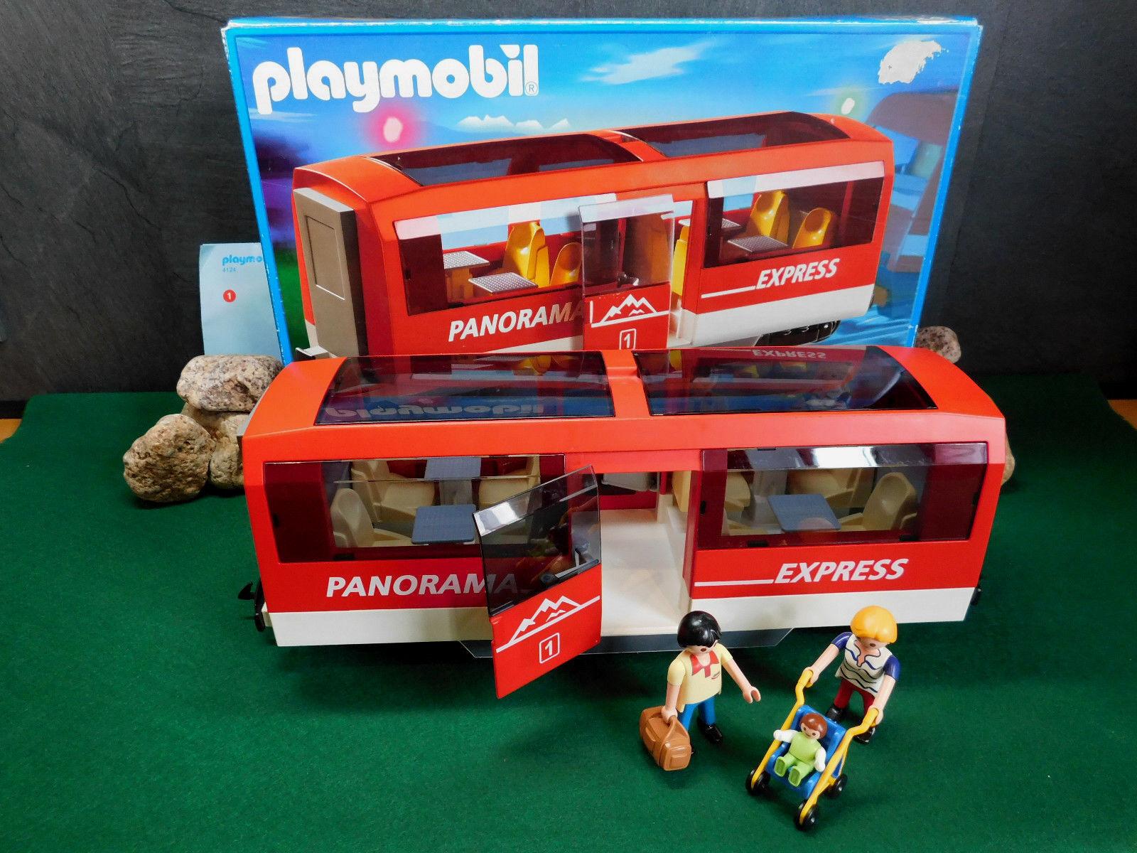 Playmobil Personenwagen Panorama-Express 4124-A/2005 mit Orig.-BA und OVP