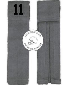 Player Number Football Towel Gray Black Number Wide Receiver Linebacker WR LB