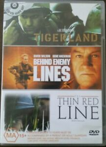 War-Pack-DVD-2005-3-Disc-Set-Tigerland-Behind-Enemy-Lines-The-Thin-Red-Line