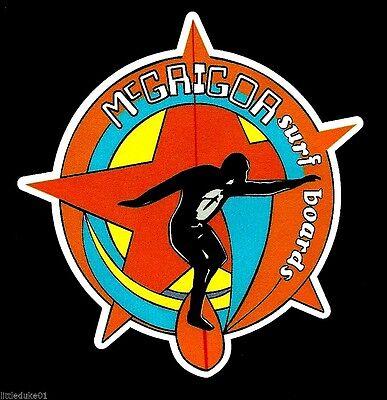 """/""""BOWER BOY WAX/"""" VINTAGE RETRO Sticker Decal 1970s LONGBOARD SURFER SURFBOARD"""