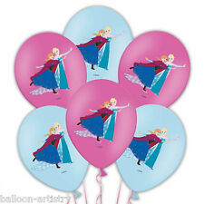 6 Disney's Frozen Ice Skating Party Luxury 4 Colour Printed Latex Balloons