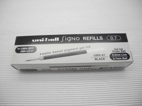36 refills UNI-BALL UNI UMR-87 0.7mm for Signo UMN-207 roller ball pen Black Ink